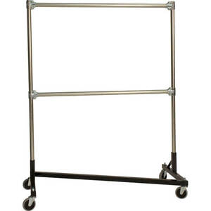 Z rack Heavy Duty Clothes Rack 48 L X 60 Uprights Double Rail Black 248602