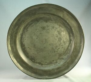 Antique 1700 S Early Pewter 16 5 Charger Barnard S Inn Tavern Maine 1776