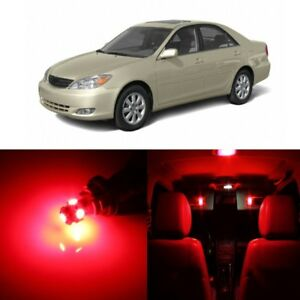 10 X Red Led Interior Lights Package For 2002 2006 Toyota Camry Pry Tool