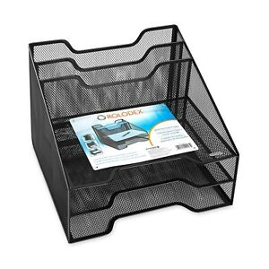 Rolodex Combination Sorter 5 Sections Metal Mesh Black Office Desktop Storage