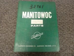 Manitowoc 4100w Vicon Lattice Boom Crawler Crane Parts Catalog Manual
