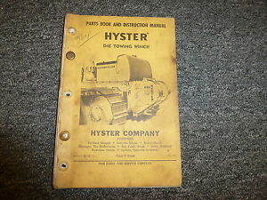 Hyster D4e Towing Winch For Cat D4 Tractor 955 933 Parts Catalog