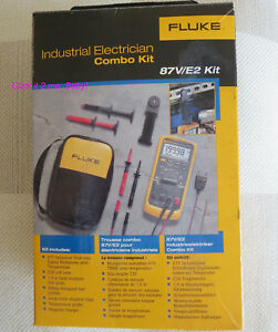 New Fluke 87v e2 Electrician Combo Kit True rms Multimeter W Temperature 87v v