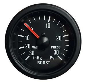 Prosport Mechanical Boost Gauge 52mm Clear Lens White Led