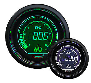 Prosport Evo Series Digital Egt Exhaust Gas Temperature Gauge Green