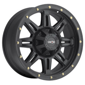4 17 Inch Vision 400 Incline 17x9 6x139 7 6x5 5 18mm Matte Black Wheels Rims