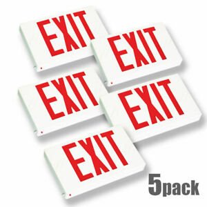 New_5pcs Red Led Emergency Exit Fire Light Sign Modern Battery Backup Ul924