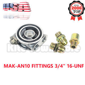 An10 Fittings 3 4 16unf Oil Cooler Filter Sandwich Plate Thermostat Adaptor Usa