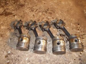 Mccormick Farmall F12 F14 Tractor Ih Engine Motor 4 Pistons Rings Rod Piston
