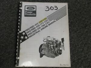 Ford Rsg Rsd 422 428 431 Industrial Engine Factory Shop Service Manual
