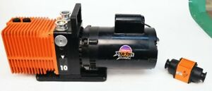 Alcatel Pascal Type 2010 Rotary Vacuum Pump With 1 2hp Franklin Motor 120 240vac