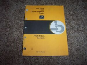 John Deere 400g Crawler Bulldozer Technical Repair Service Shop Manual Tm1412