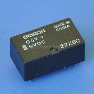 10pcs Omron Spdt High Frequency Relay G6y 1 5vdc
