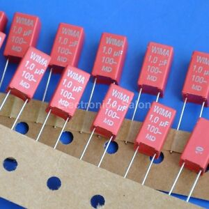 20pcs Wima 1uf 100v Mks 2 Metallized Polyester pet Capacitor