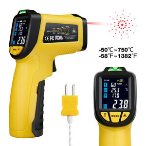Urceri Infrared Thermometer Ir 818 Digital Ir Temperature Gun Non Contact Laser