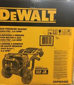 Dewalt Dxpw3425 Professional 3400 Psi Gas Pressure Washer With Honda Engine New