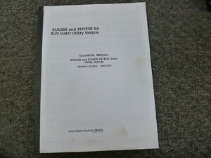 John Deere Xuv550 S4 Xuv Gator Utility Vehicle Service Repair Manual Tm109819