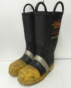 Thorogood Structural Hazmat Steel Toe Firefighter Fire Fighter Boots 7 Medium