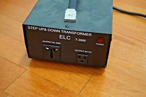 Elc T 3000 Step Up Down Voltage Converter Transformer 3000 W Watt 240 120 V