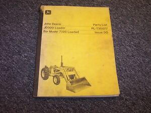 John Deere 300 Bulldozer Dozer Loader Original Parts Catalog Manual Pc972