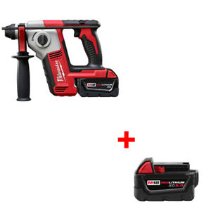 Milwaukee 2612 21 M18 Cordless 5 8 Sds Plus Rotary Hammer Kit With Free Battery