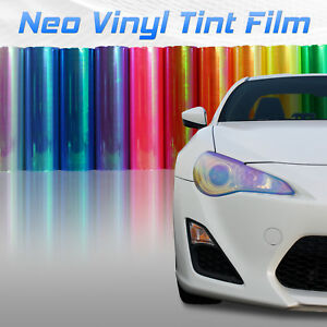 Chameleon Neo Chrome Headlight Fog Light Taillight Vinyl Tint Film All Colors