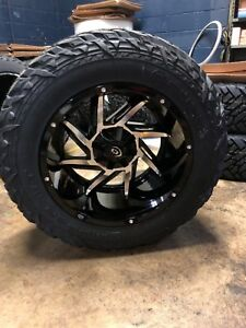 20x12 51 Vision Prowler Wheels 35 Mt Fuel Tires Package 6x5 5 Chevy Gmc 6 Lug