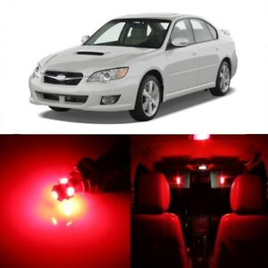 10 X Red Led Interior Lights Package For 2000 2009 Subaru Legacy Pry Tool