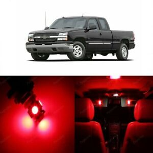 13 X Red Led Interior Light Kit For 1999 2006 Chevy Chevrolet Silverado Tool
