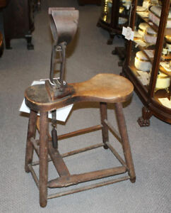 Antique Primitive Horse Harness Saddle Maker Bench Stitching Horse 1892 Patent
