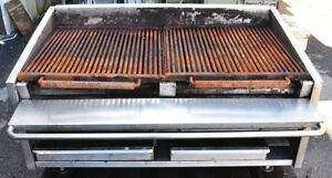 48 Nat Gas Countertop Charbroiler Char Grill On Wheels