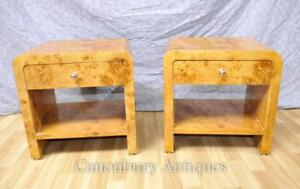 Pair Deco Nightstands Bedside Chests Tables