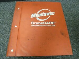 Manitowoc Model 222 W Epic Conversion Crawler Crane Parts Catalog Manual Book
