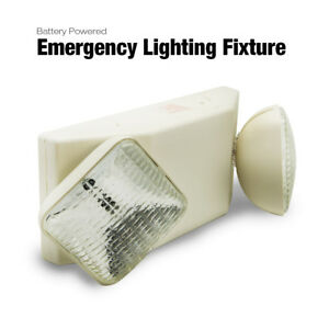 Etoplighting Battery Powered Emergency Lighting Fixture Double Square Head