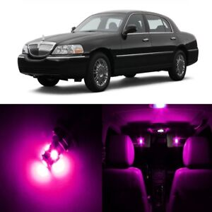 16 X Pink Led Interior Light Package For 2004 2007 Lincoln Town Car Tool