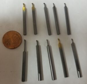 Lot 10 Solid Carbide Mini Micro Boring Bars Watchmaker Jewelry Lathe Threading