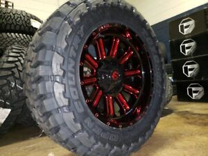 20 Fuel D621 Red Hardline 35 Toyo Mt Tires Package 5x5 Jeep Wrangler Jk Jl Tj