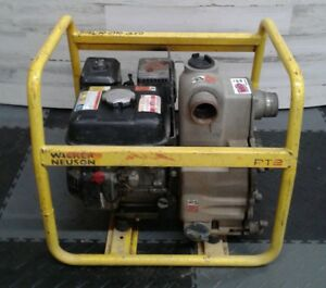 Wacker Neuson Pt2 Centrifugal Water Pump 2 Trash Gas Powered Well Sump Pumps