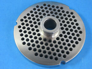 32 X 1 4 Meat Grinder Plate W Hub Stainless Fits Hobart Biro Lem More