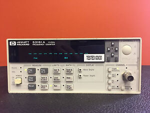 Hp agilent 53181a Opt 010 015 060 100 Mhz To 1 5 Ghz Frequency Counter Tested