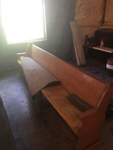 15 Foot Wood Church Pew Bench For Pickup In Lake Mills Iowa