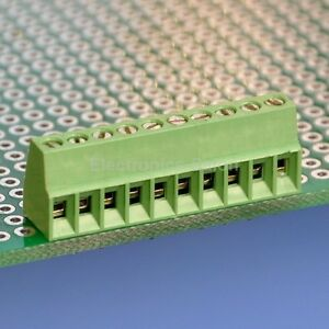 100x 10 Poles 2 54mm 0 1 Pcb Universal Screw Terminal Block