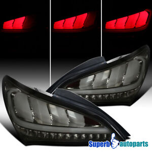 For 2010 2016 Hyundai Genesis Coupe Smoke Sequential Signal Led Tail Lights Pair
