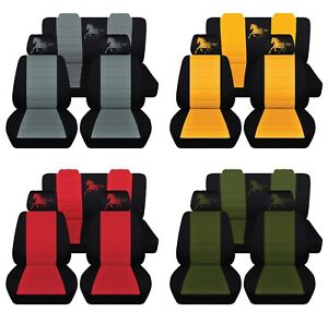 Car Seat Covers 2005 2007 Ford Mustang Coupe Convertible Horse Design Custom Fit