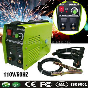Handheld Mma120 Electric Inverter Welder Welding Machine Tool Dc110v 20 120a