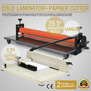 29 5 Cold Laminator 17 Paper Cutter Manual Metal Base Photo New Generation