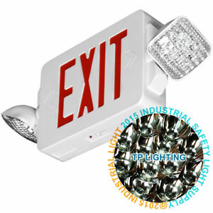 Red All Led Exit Sign Emergency Light Standard Combo Ul 924 El2cr