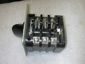 Rotary Cam Switch On off 3 Pole 63a 500 Volt