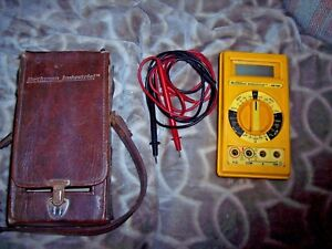 Beckman Hd140 Digital Multimeter Lcd Display With Leads Case Tested Great