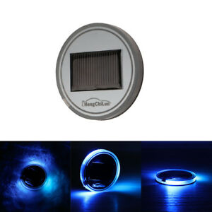 Universal Led Car Cup Holder Light Solar Power Cover Trim Bottom Bottle Mat Pad